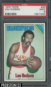 1975 Topps Basketball #25 Lou Hudson Atlanta Hawks PSA 9 MINT