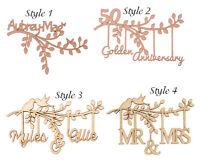 Wooden MDF Branch Shape Personalised Own Names Bespoke Wedding Gift Birthday