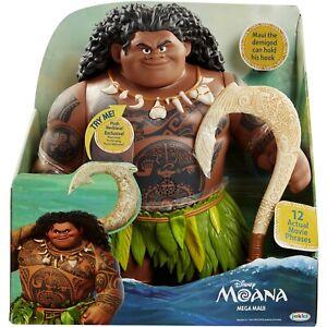 "Disney's Moana 16"" Mega Maui Figure - Includes Removable Fishhook - Sings - NEW!"