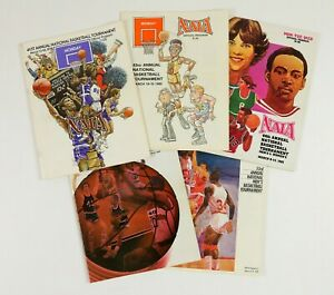 Lot of 5 1978-90 College Basketball NAIA Tournament Programs