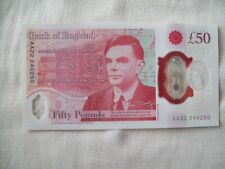 More details for bank of england: 2021 aa22 uncirculated polymer £50 banknote