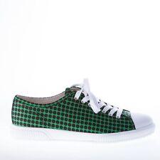 PRADA scarpe uomo men shoes sneaker in nylon VERDE E NERO con punta in gomma