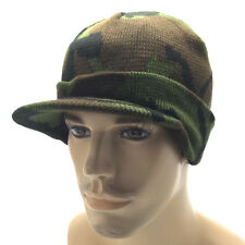 Military Camouflage Camo Beanie Skull Cap Hat Visor GI Knit Ski Beany Cuff Mens