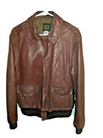 AVIREX Size 40 Leather Bomber Jacket 1978-01 USAF Army Type A-2 816-47 USA
