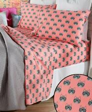 Cat with Glasses Bed Sheet Set - Queen