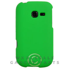 Samsung R480 Freeform 5 Shield Rubberized Neon Green Case Cover Shell Shield