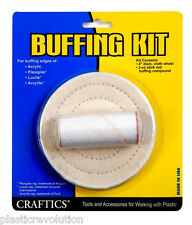 Craftics Buffing Kit for Acrylic Plexiglas® Lucite® Acrylite® and hard plastic