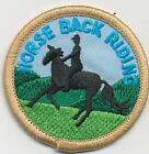 Boy Girl cub HORSEBACK RIDING ROUND Fun Patches Crests Badges GUIDES SCOUT