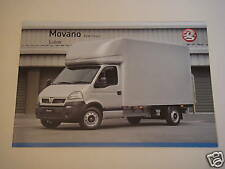Vauxhall . Movano Luton . 2008 Edition 1 . Sales Leaflet