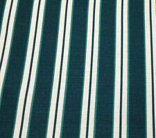 """WAVERLY BRANT POINT STRIPE EMERALD GREEN LINEN FURNITURE FABRIC BY THE YARD 56""""W"""