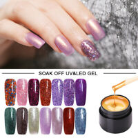 40 Colors LEMOOC Glitter UV Gel Nail Polish Shimmer UV LED Soak Off Gel Varnish