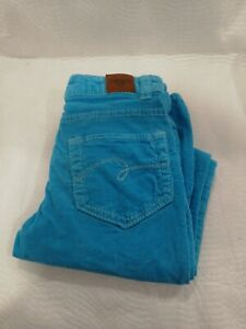 Justice Girls Size 10S  Jegging Corduroy Midrise-Slim leg Turquoise
