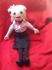 Stewardess Doll British Airline Cabin Crew Airways Hand-Painted Name Badge