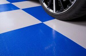 Nitro Flex Smooth Garage/Van/Shop Flooring Interlocking Floor Grey Case 8 Tiles