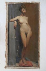 Antique Nude Woman Oil Painting PAFA Pennsylvania Impressionist Academic Artist
