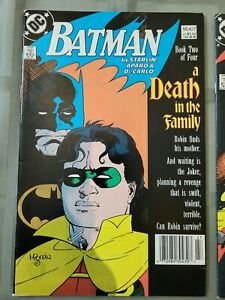 Batman 427to429 A Death in the Family Full Set Vf+