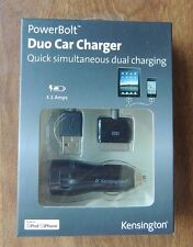 Kensington PowerBolt Duo Car Charger K33497US 3,1 Amps for iPhone 3G, 3GS, 4S