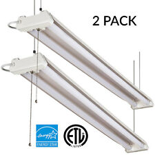 Sunco Lighting 2pk 4FT 40W LED Fixture Utility SHOP Ceiling LIGHT 5000K Daylight