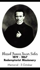 BLESSED FRANCIS XAVIER SEELOS PRAYER CARD (wallet size)