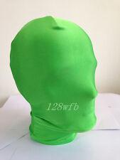 Halloween Lycra spandex zentai wrestling cosplay green full hood/mask S--XXL