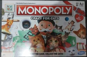 Monopoly Crazy for Cats Board Game Pet Edition New Release 9675 Hasbro Exclusive