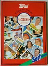 Topps Baseball Card Book Texas Rangers By Surf Detergent Mlb 1987 Chewing Gum
