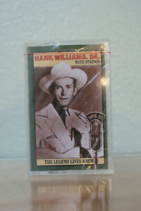 """Classic Cassette tape Hank Williams,Sr. w/Strings """"The Legend Lives Anew""""--New!!"""