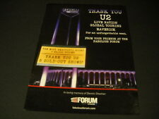 U2 The Forum says thanks for 5 shows DENNIS SHEEHAN memory reference PROMO AD
