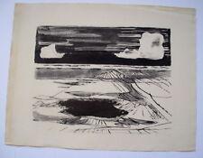 Original-Lithographien (1950-1999) aus Deutschland mit Landschafts-Motiv