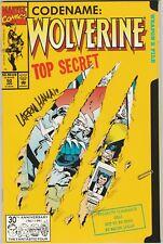 WOLVERINE #50 SIGNED LARRY HAMA (MARVEL 1992) DIE CUT COVER (MARC SILVESTRI)