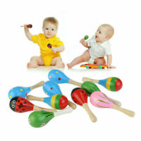 Wooden Maraca Wood Rattles Party Favor For Baby Kids Musical Shaker Toys Gift