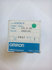 NEUF / NEW / NEU OMRON H3CR-F TIMER (TWIN) 24VDC/AC 1.2s to 30h