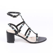 Valentino Rockstud Leather Cage Sandals SZ 41