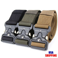 Adjustable Tactical Belts Nylon Military Waist Belt with Metal Buckle Waist Belt