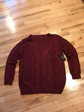 NWT ladies Lulus Long Sleeve Sweater Burgundy Size Large