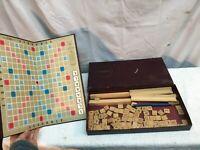 Vintage 1953 Scrabble Crossword Board Game Selchow & RighterComplete