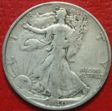 1940-S Walking Liberty Half Dollar , Fine or Better , 90% Silver US Coin