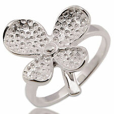 Nice Ring Flower White 925 Sterling Silver Size.6 L Circumference=51 mm