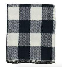 NIP FARIBAULT buffalo check cotton throw blanket charcoal grey
