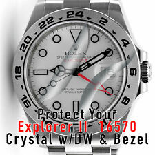 For Rolex Explorer 16570 Crystal and Bezel Protector HD anti-scratch Set x2