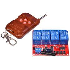 4-Canaux Relais Module 12V DC + Télécommande Transmetteur + Récepteur 433Mhz RF