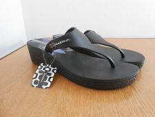 BNWT Ipanema black wedge thing slip on sandals flip flops EU 40 UK 7 NEW