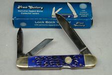 FROST CUTLERY LOCK BACK WHITTLER GERMAN STEEL BLUE JIGGED BONE 14-205 RJB KNIFE!