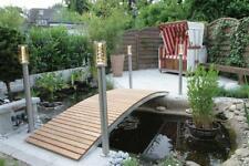 Gartenbrücke Brücke Metallbrücke Teichbrücke Teichsteg mit Geländer Rost-Optik