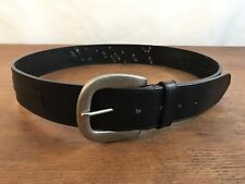 Carhartt Genuine Black Leather Studded Logo Belt with Buckle Mens Size Large