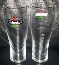 PAIR OF RARE COLLECTABLE HEINEKEN 425ML BEER GLASSES BRAND NEW PINT GLASS
