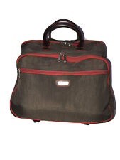 Baggallini Rolling Brown / Red Wheeled Luggage