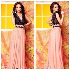 NEW Elegant Woman Black lace Maxi  evening  Boutique Dress size 10-12-14