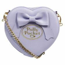 Polly Pocket Heart Shaped Purple Cross Body Bag Handbag - Cosplay Retro Evening