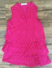 Women's Latched Mama Sleeveless Top Hot Pink Nursing Breastfeeding Sz Small
